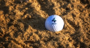 Golf ball in the bunker